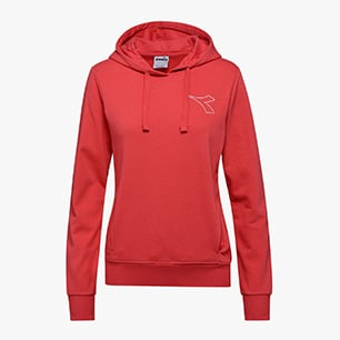 L.HOODIE SWEAT FREGIO, GERANIUM RED, medium