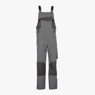 BIB OVERALL POLY, STEEL GREY, medium