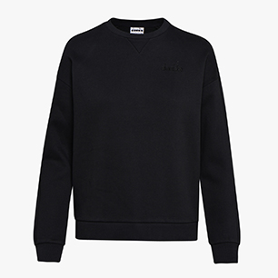L. SWEATSHIRT CREW CHROMIA, BLACK, medium