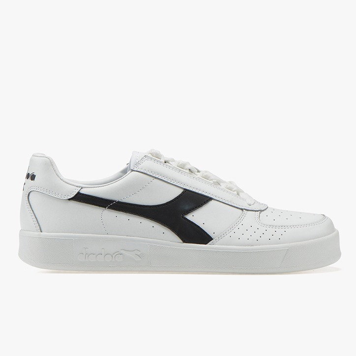 B. ELITE, WHITE/WHITE/BLACK, large