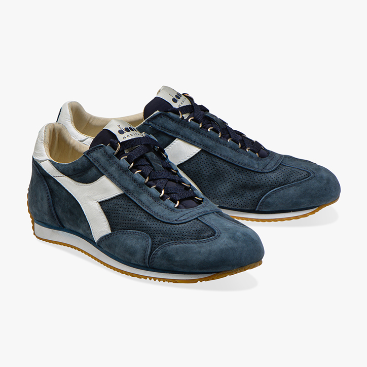EQUIPE SUEDE SW, BLUE DENIM/WHITE, large