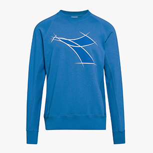 CREWNECK SWEAT FREGIO, BLUE MOON, medium