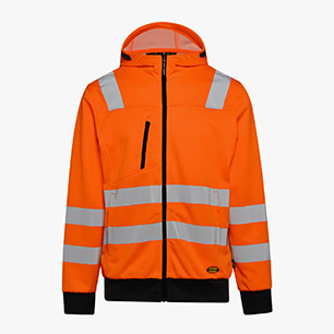 HOODIE ZIP HV ISO 20471, FLURESCENT ORANGE, medium