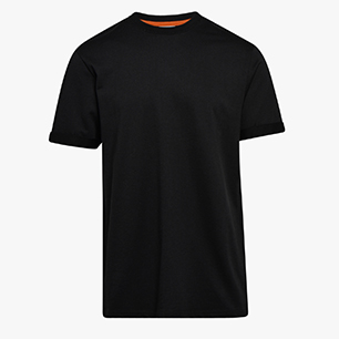 T-SHIRT SS ONE, BLACK, medium