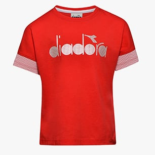 JG.SS T-SHIRT 5 PALLE, POPPY RED, medium