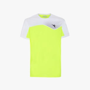 T-SHIRT COURT, JAUNE, medium