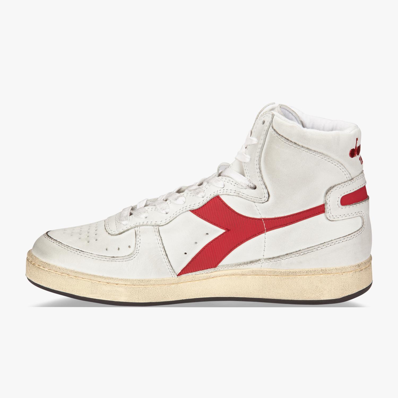Sneakers rosse per unisex Diadora Mi Basket YtS3o