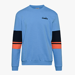 CREWNECK SWEAT LOGO, AZURE SKY BLUE, medium