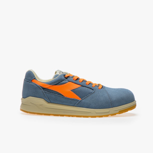 D-JUMP LOW S1P SRC ESD, BLUE DENIM/ORANGE, medium