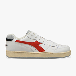 MI BASKET LOW ICONA, WHITE/FERRARI RED ITALY, medium