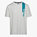 T-SHIRT SS ICON, BLANC DE BLANC/VIRIDIAN GREEN, swatch