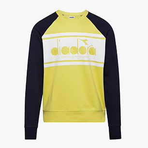 SWEATSHIRT CREW SPECTRA, CLASSIC NAVY/YELLOW, medium