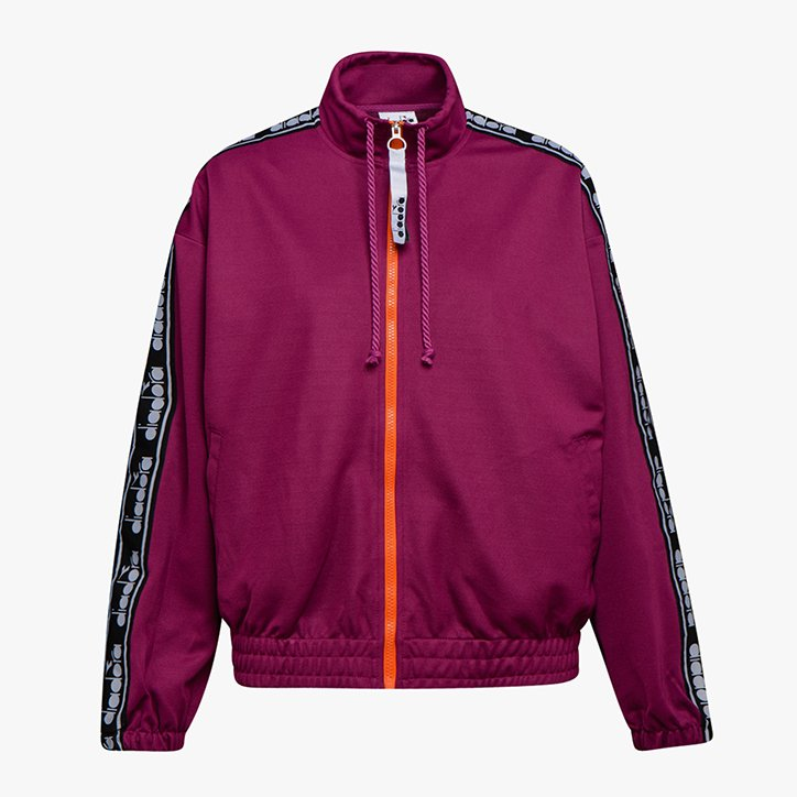 L. TRACK JACKET TROFEO, VIOLET BOYSENBERRY, large