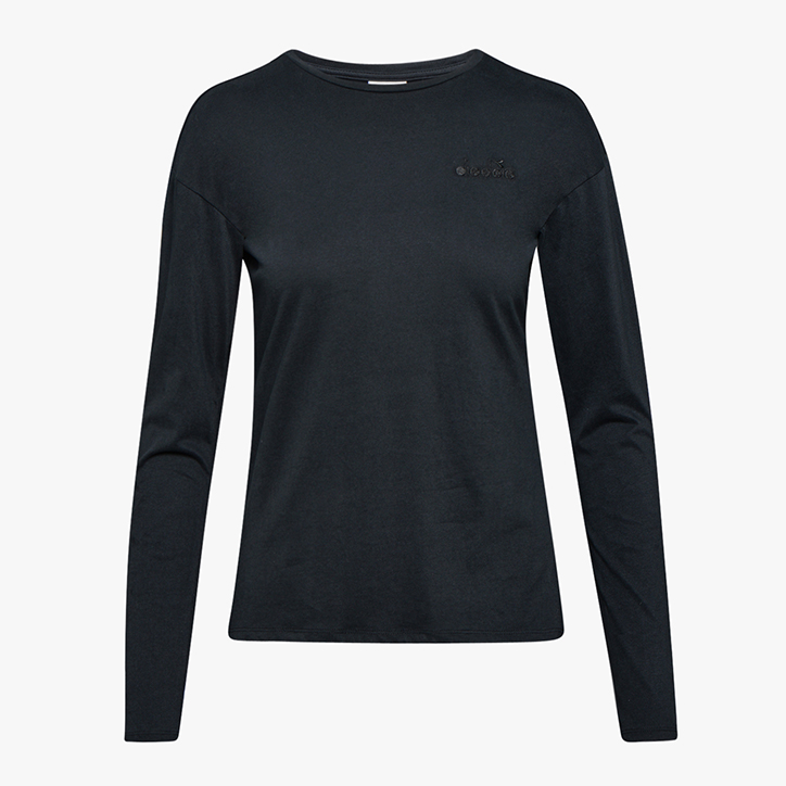 L.LS T-SHIRT CORE, BLACK, large
