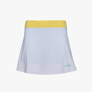 L. SKIRT EASY TENNIS, SUPER WHITE /TINT BLUE, medium