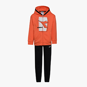 JU. TRACKSUIT HOODIE FZ ELEMENTS, ORANGE NASTURTIUM, medium