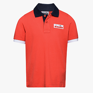 JB.SS POLO 5 PALLE, POPPY RED, medium