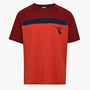 T-SHIRT SS DIADORA CLUB, MOLTEN LAVA RED, medium