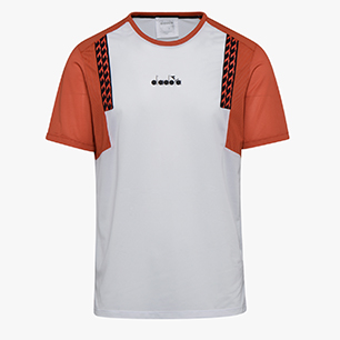 SS T-SHIRT CLAY, OPTICAL WHITE/MECCA ORANGE, medium