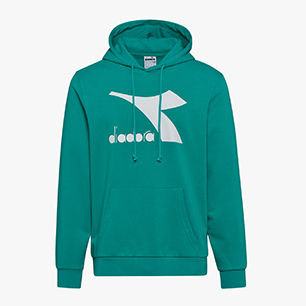 HOODIE BIG LOGO, GREEN DEEP, medium