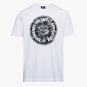 T-SHIRT GRAPHIC ORGANIC, BLANC  , medium