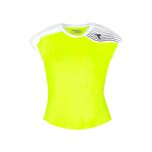 G. T-SHIRT COURT, FLUO YELLOW DD, medium