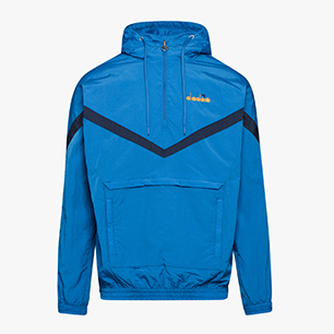 HOODIE JACKET 1/2 ZIP OFFSIDE, BLUE MEDITERRANEAN, medium
