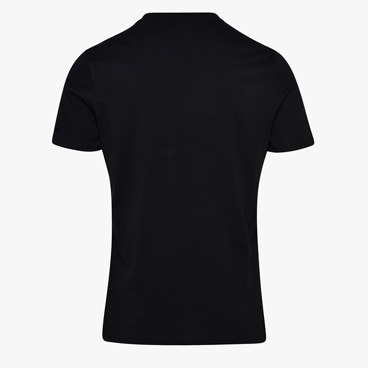 T-SHIRT SS BL, BLACK/OPTICAL WHITE, large