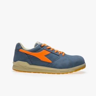 D-JUMP LOW S3 SRC ESD, FADED DENIM/FLAME ORANGE, medium