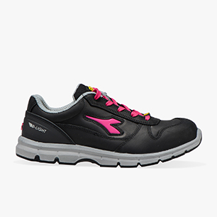 RUN LOW S3 SRC ESD, BLACK/FUCSIA RED, medium