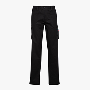 PANT STRETCH CARGO, BLACK, medium