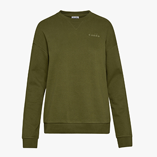 L. SWEATSHIRT CREW CHROMIA, WINTER MOSS, medium
