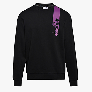 SWEATSHIRT CREW ICON, NEGRO, medium
