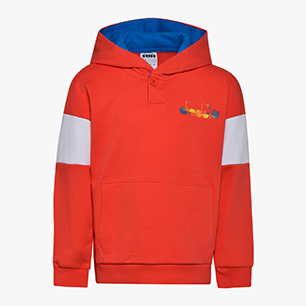 JB. HOODIE DIADORA CLUB, POPPY RED, medium