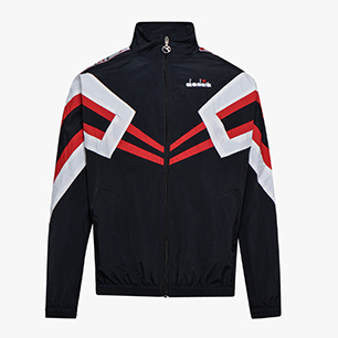 TRACK JACKET MVB, BLACK/RED CAPITAL, medium