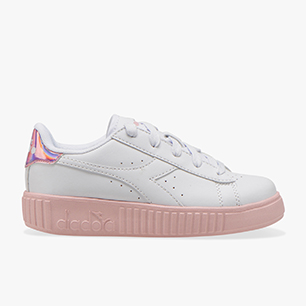 GAME STEP PS, WHITE/PINK PEACHSKIN, medium