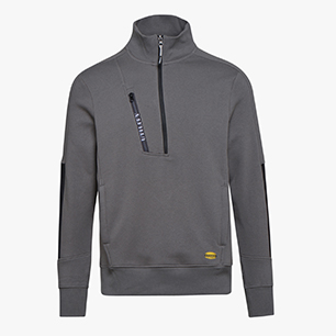 SWEATSHIRT HZ LITEWORK, STEEL GREY, medium