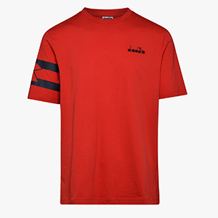 T-SHIRT SS HOOPS, TOMATO RED, medium