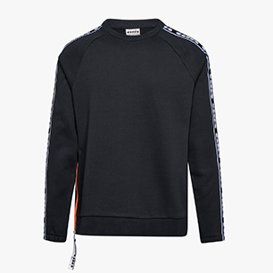 SWEATSHIRT CREW TROFEO, BLACK, medium