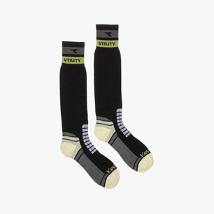TECHNICAL WIN. SOCKS, BLACK/GREY, medium