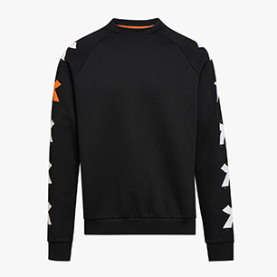 SWEATSHIRT CREW ONE, BLACK, medium