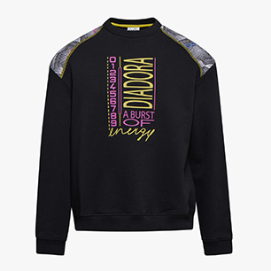 SWEATSHIRT CREW BELLA VITA, BLACK, medium