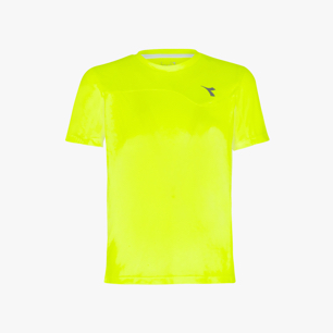 J. T-SHIRT TEAM, FLUO YELLOW DD, medium