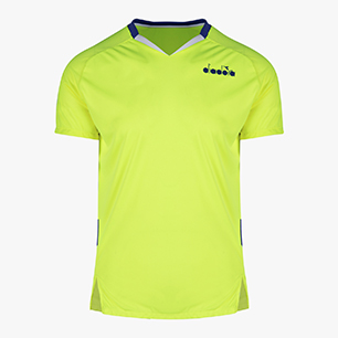 T-SHIRT, FLUO YELLOW DD, medium