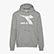 HOODIE SWEAT LOGO CHROMIA, LIGHT MIDDLE GREY MELANGE , swatch