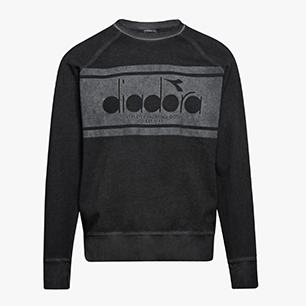 SWEATSHIRT CREW SPECTRA USED, BLACK, medium