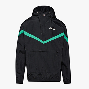 HOODIE JACKET 1/2 ZIP OFFSIDE, BLACK, medium