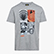T-SHIRT GRAPHIC ORGANIC, GRIS MEDIO MELANGE, swatch