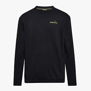 SWEATSHIRT CREW BLKBAR, BLACK, medium