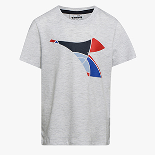 JU.SS T-SHIRT FREGIO, SUPER WHITE/LIGHT GRAY MELANGE, medium